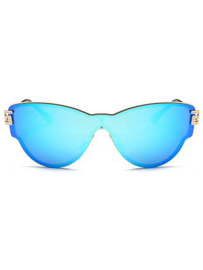 Butterfly Wrap Mirrored Sunglasses - ICE BLUE  Mobile