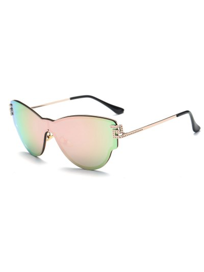Butterfly Wrap Mirrored Sunglasses - PINK  Mobile