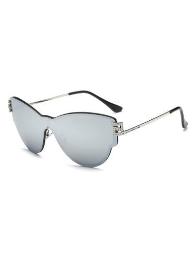 Butterfly Wrap Mirrored Sunglasses - SILVER  Mobile