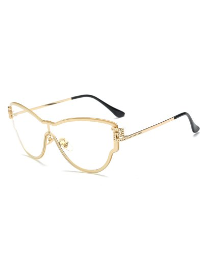 Transparent Lens Butterfly Wrap Sunglasses - GOLDEN  Mobile