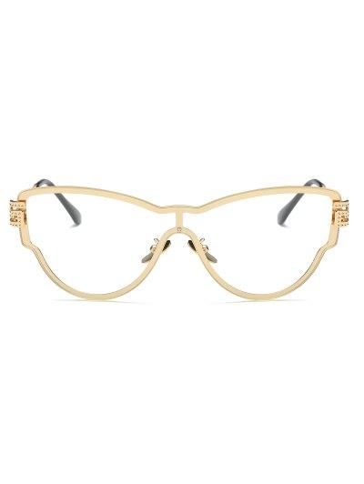 Transparent Lens Butterfly Wrap Sunglasses - GOLDEN  Mobile