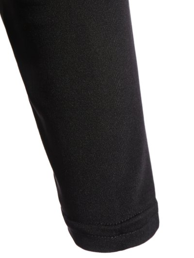 Plunge Neck Fitted Lacework Bodysuit - BLACK L Mobile