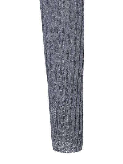 Stand Neck Wool Blend A Line Dress - GRAY L Mobile