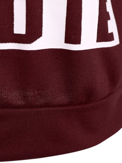 Hangover Cropped Hoodie - BURGUNDY L Mobile