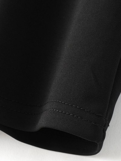 Floral Embroidered T-Shirt - BLACK S Mobile