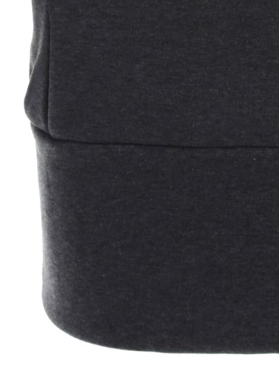 High Neck Drawstring Hoodie - GRAY S Mobile