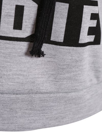Hangover Cropped Hoodie - GRAY 2XL Mobile