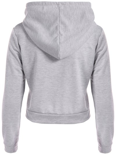 Hangover Cropped Hoodie - GRAY L Mobile