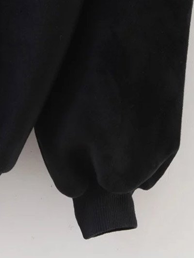 Cami Panel Crew Neck Sweatshirt - GRAY ONE SIZE Mobile