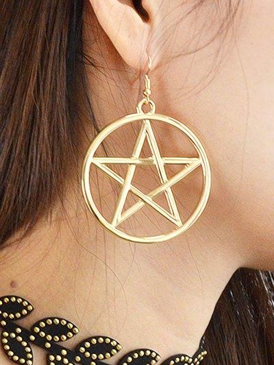 Star Circle Earrings - GOLDEN  Mobile
