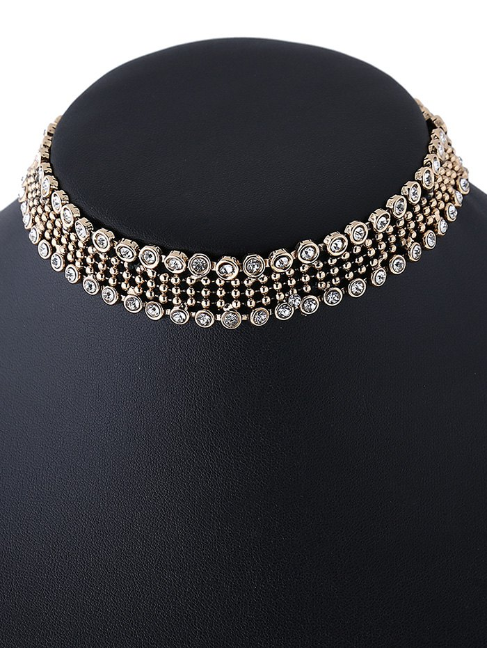 Fake Crystal Beads Choker Necklace