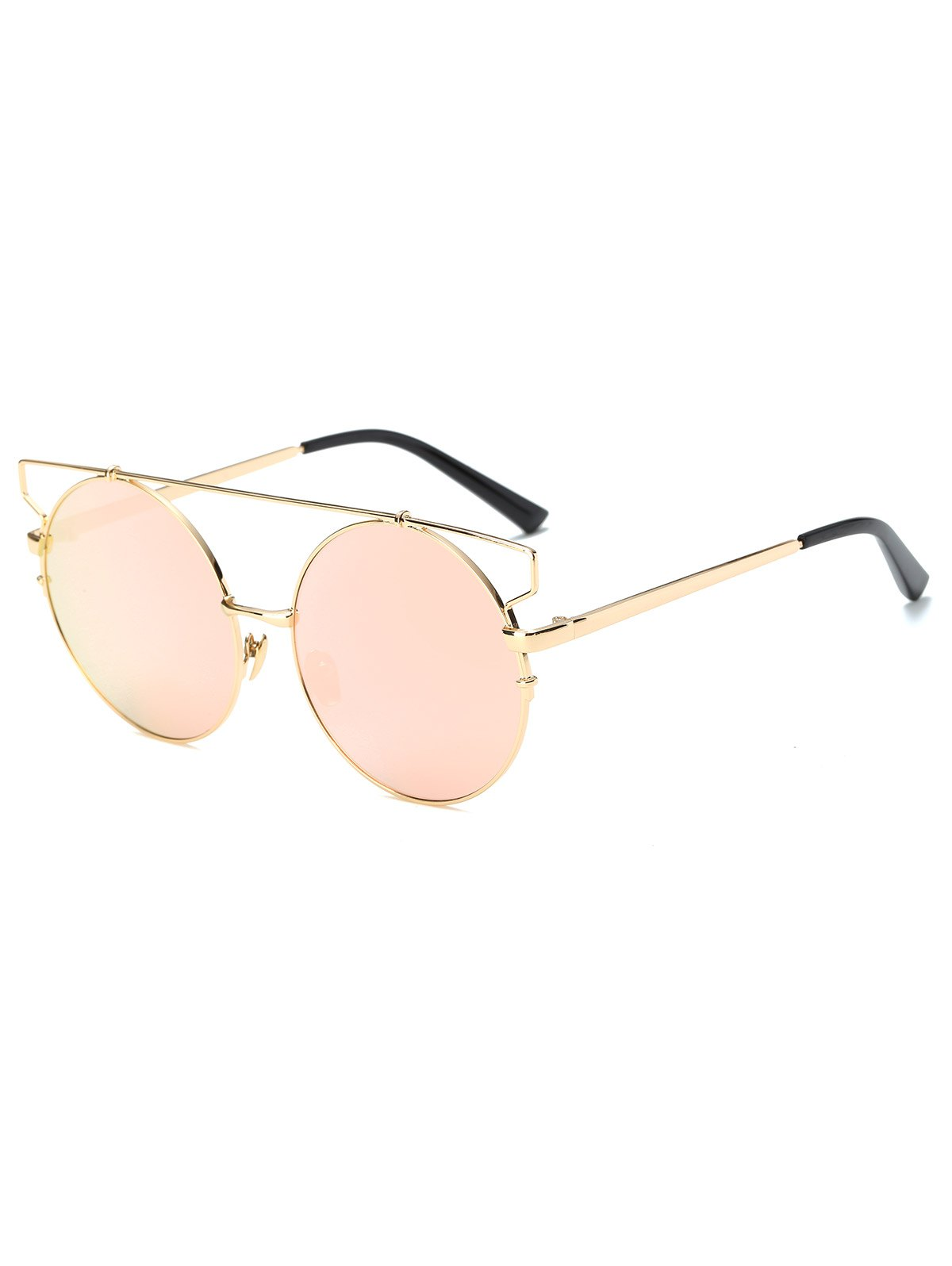 Metal Round Mirrored Sunglasses