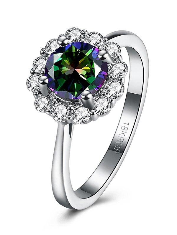 Rhinestone Blossom Ring