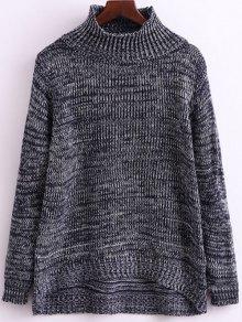 Heathered Funnel Neck Knitwear