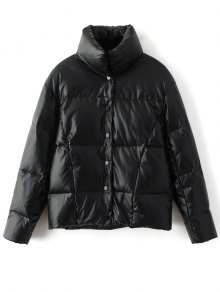Snap Button Quilted Down Jacket