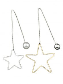 Asymmetric Star Beads Drop Earrings