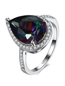 Teardrop Rhinestone Ring