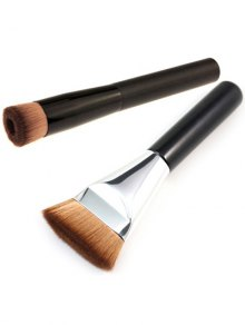 Brocha Plana Contorno + Cepillo de Maquillaje