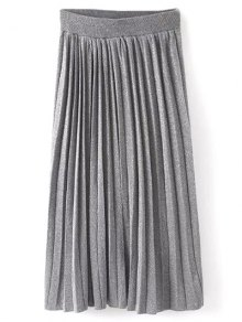 Knitted Pleated Maxi Skirt