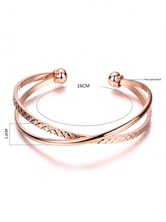 Crossover Engraved Bracelet - ROSE GOLD  Mobile