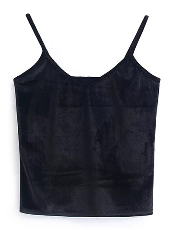 Camisole Velvet Top - BLACK ONE SIZE Mobile