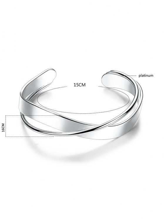 Crossover Cuff Bracelet - SILVER  Mobile