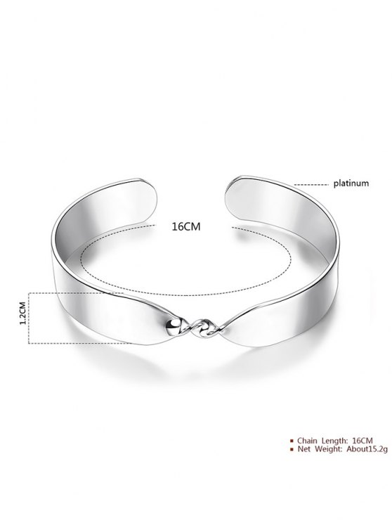 Alloy Twisted Infinite Bracelet -   Mobile