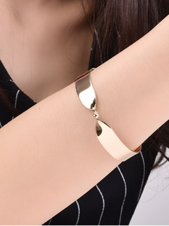 Alloy Twisted Infinite Bracelet - GOLDEN  Mobile