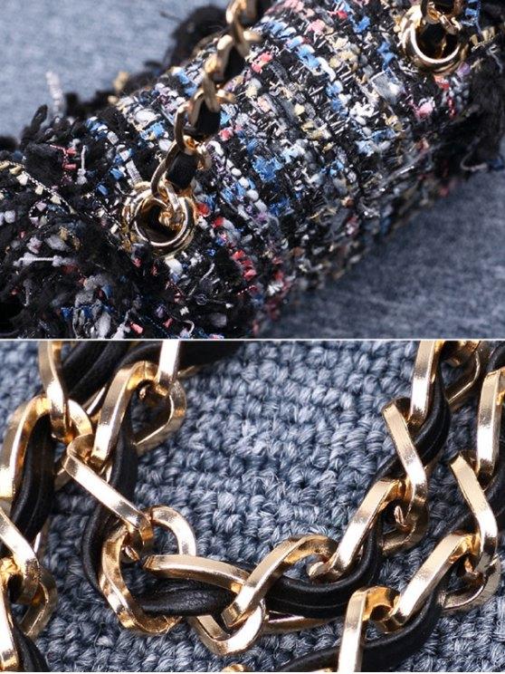 Chain Argyle Twist-Lock Closure Crossbody Bag - OFF-WHITE  Mobile