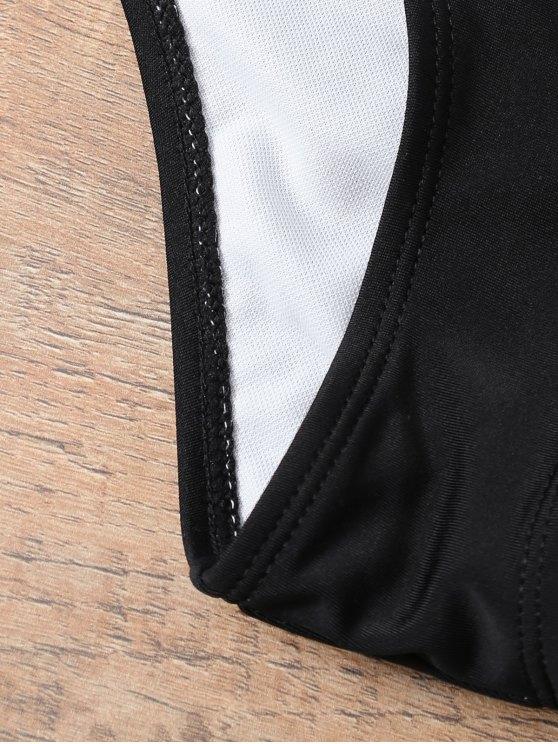 Halter Strappy Padded Bikini - BLACK M Mobile