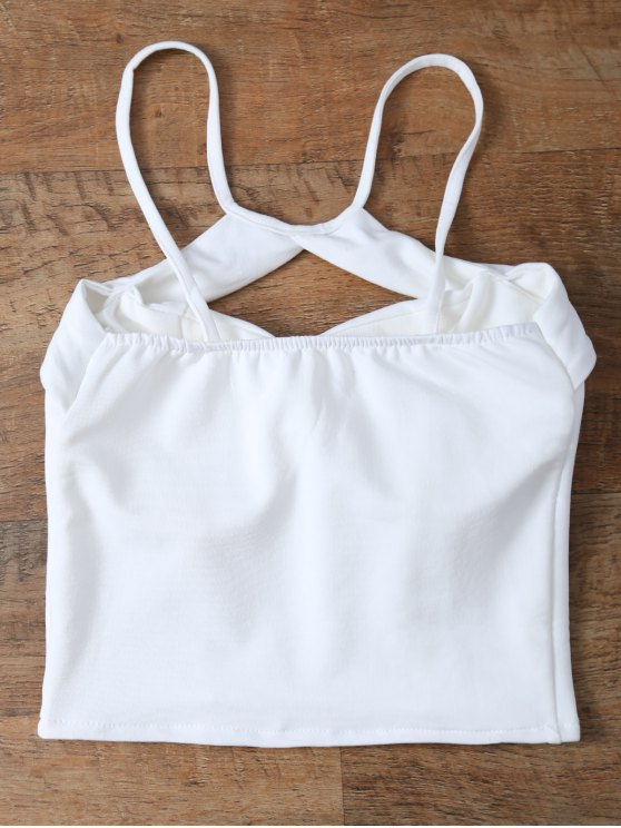 Cut Out Cropped Camisole - WHITE ONE SIZE Mobile