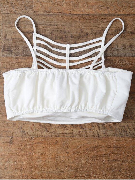 Cut Out Strappy Cami Top - WHITE ONE SIZE Mobile