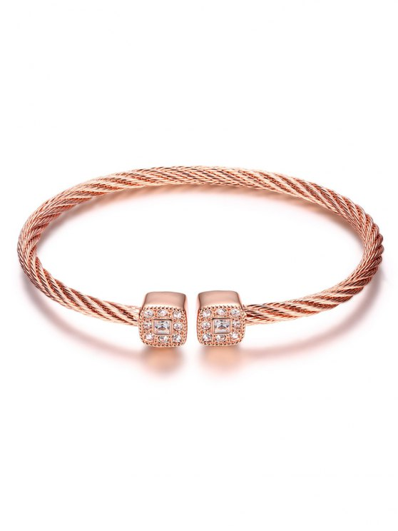 Twisted Cable Cuff Bracelet - ROSE GOLD  Mobile