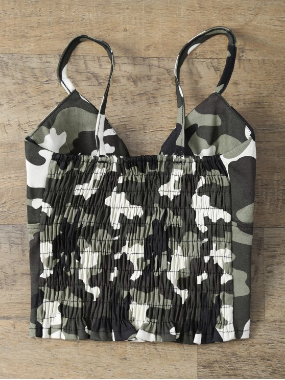 Padded Lace Up Camouflage Bralet Top - CAMOUFLAGE COLOR ONE SIZE Mobile