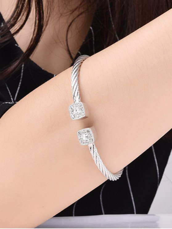 Twisted Cable Cuff Bracelet -   Mobile