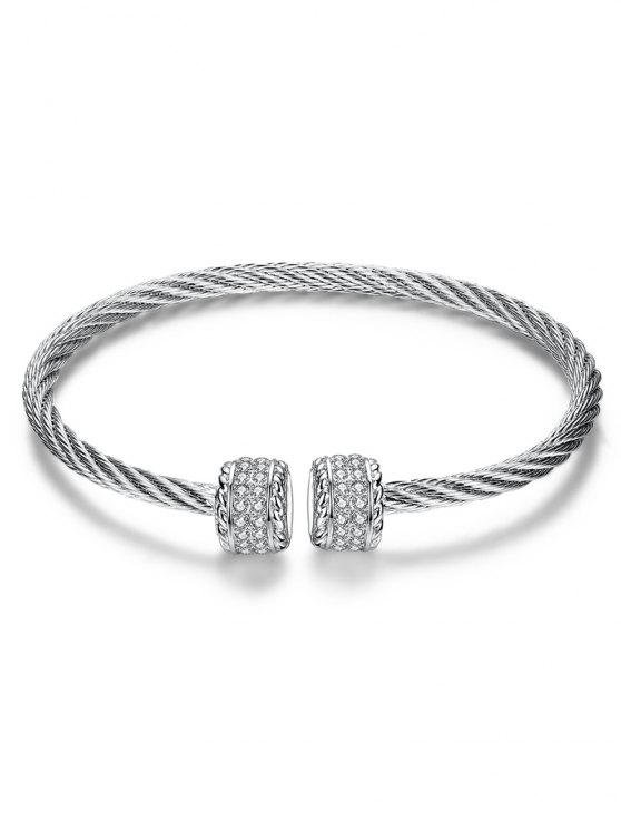 Twisted Wire Cuff Bracelet -   Mobile