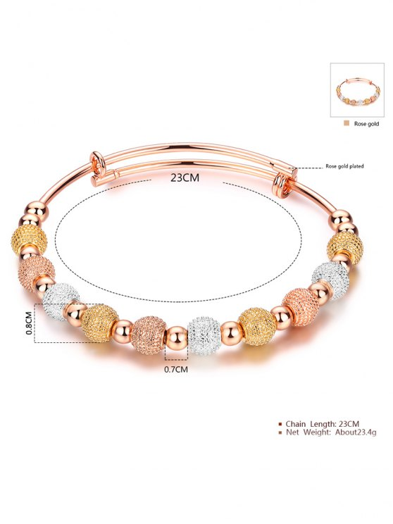 Dull Polished Beads Bracelet - CHAMPAGNE GOLD  Mobile