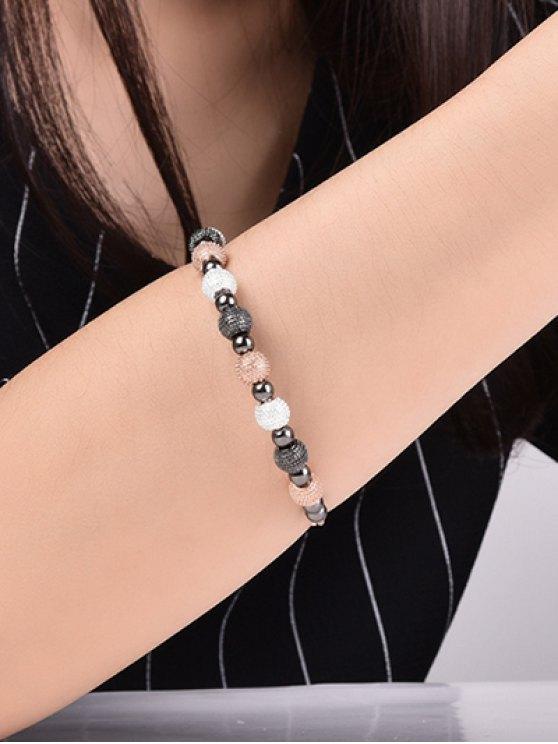 Dull Polished Beads Bracelet - GUN METAL  Mobile