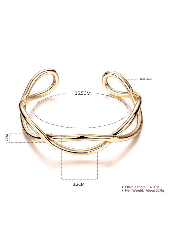 Infinite Glod Plated Bracelet - GOLDEN  Mobile