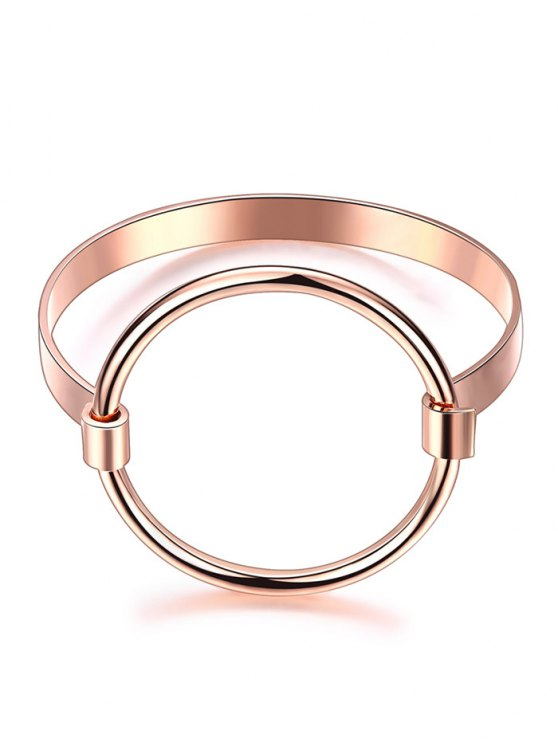 sale Hollowed Gold Plated Bracelet - ROSE GOLD