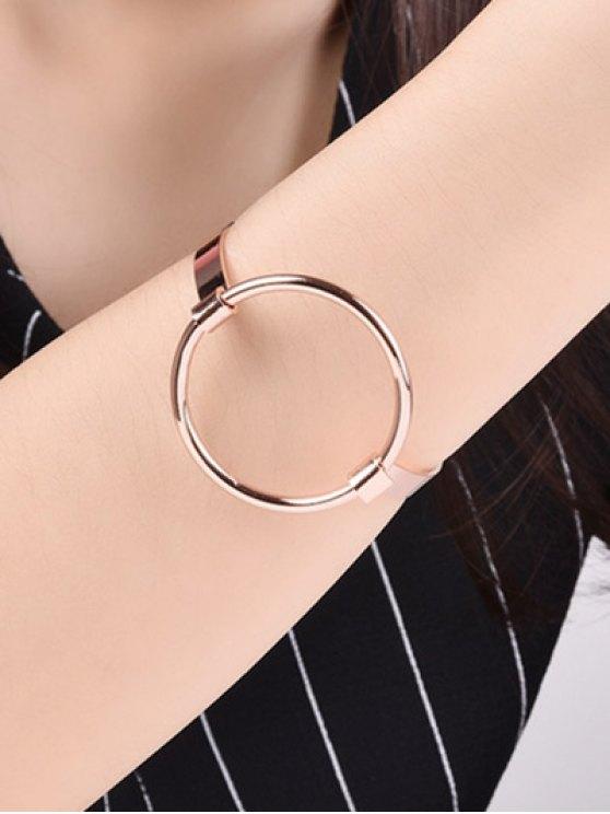 Hollowed Gold Plated Bracelet - ROSE GOLD  Mobile