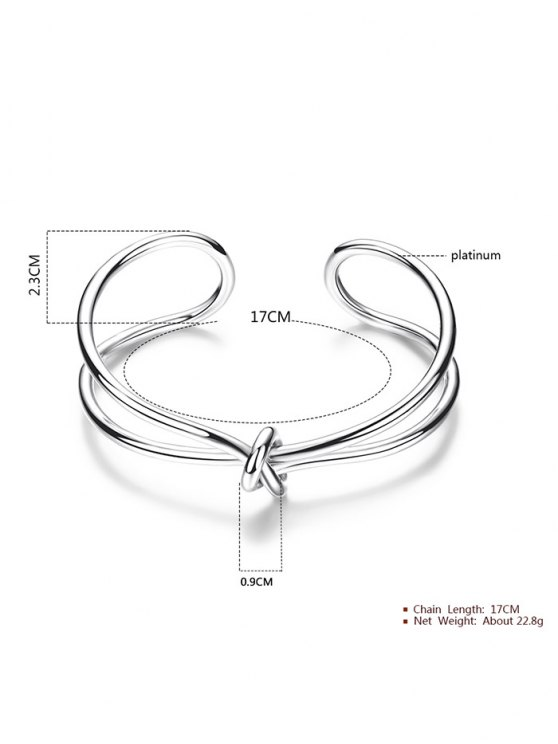 Infinite Knot Bracelet - SILVER  Mobile