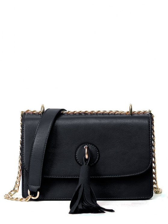 Tassel Chains Cross Body Bag - BLACK  Mobile