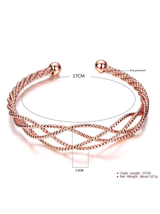 Cable Hollowed Bracelet -   Mobile