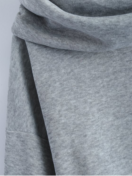 High-Low Tunic Hoodie - GRAY XL Mobile
