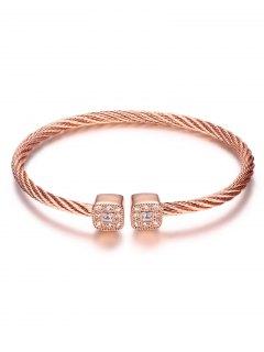Bracelet Câble Torsadé  - Or Rose