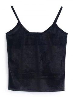 Camisole Velvet Top - Black