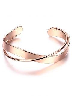 Bracelet En Alliage Et En Forme Croissante - Or Rose