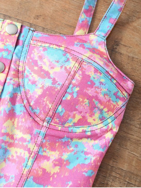 outfit Padded Tie-Dyed Denim Bralet Top - COLORMIX ONE SIZE Mobile