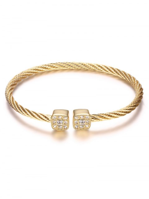 outfit Twisted Cable Cuff Bracelet -   Mobile